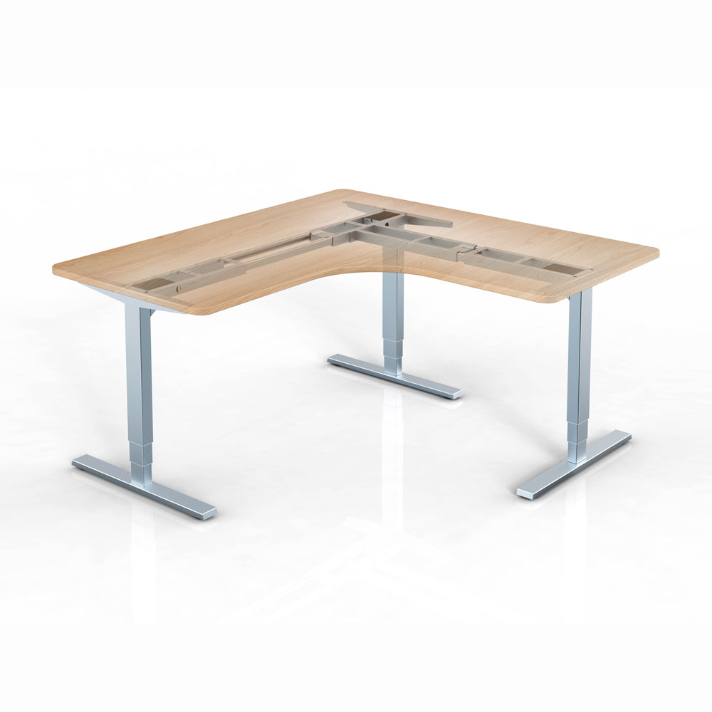 L-shape Height Adjustable Desk